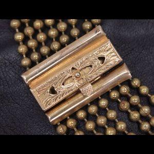 Jewelry - Vintage Art Deco Multi Strand Gold Plated Bracelet